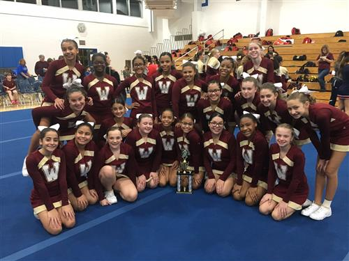 WCMS Cheerleaders win Competition